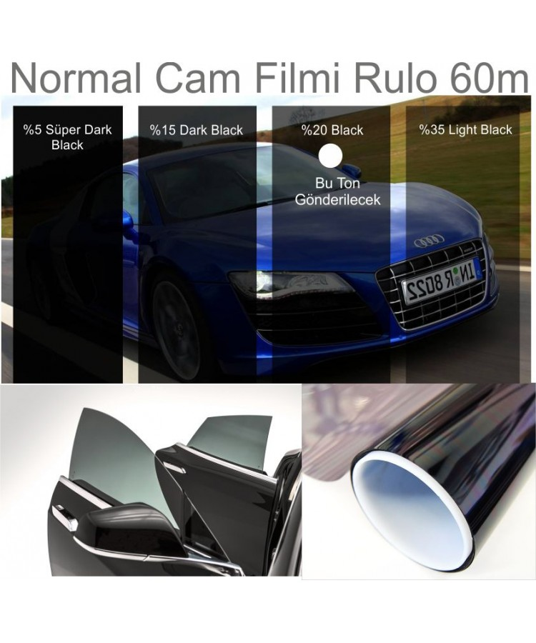 Cam Filmi Normal 100CMX60M %20 Black Kod:N10035
